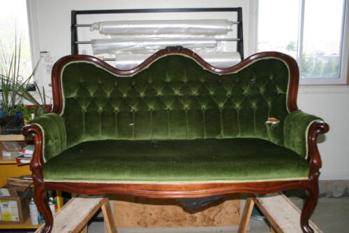 Antique Settee-Before