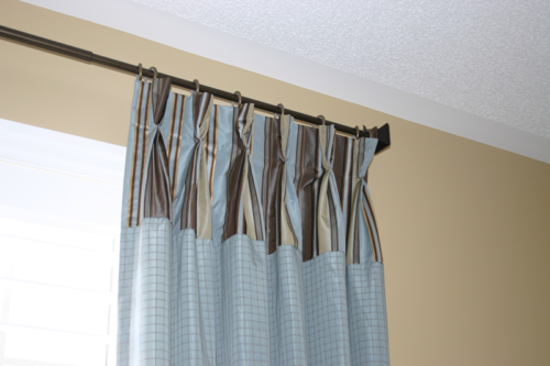 Banded Pinch Pleated Draperies
