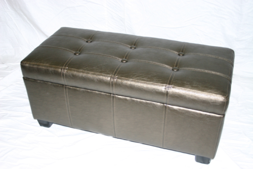 Custom Bench with Top Stitching & Removable Lid
